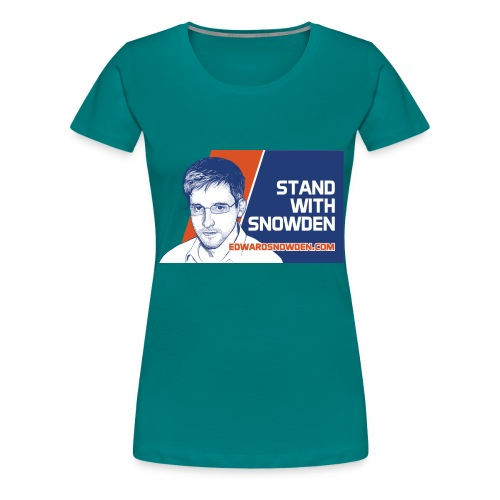 Stand With Snowden - Women's Premium T-Shirt