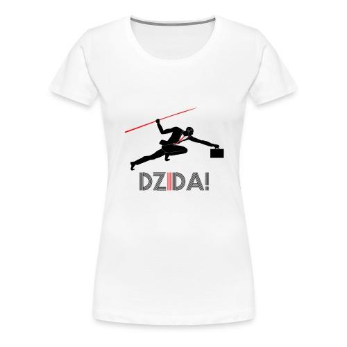 Dzida_wzor_czarny - Koszulka damska Premium