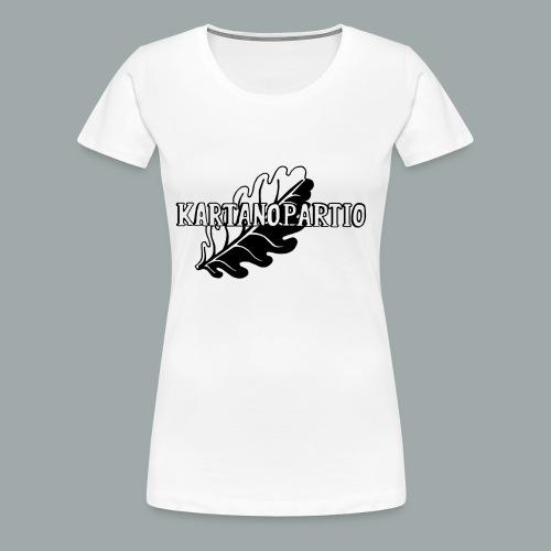 karpa logo photoshopattu - Naisten premium t-paita