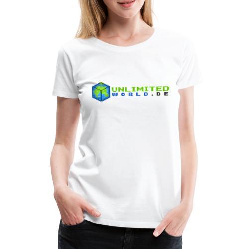 UW Logo mit schwarzem DE - Frauen Premium T-Shirt