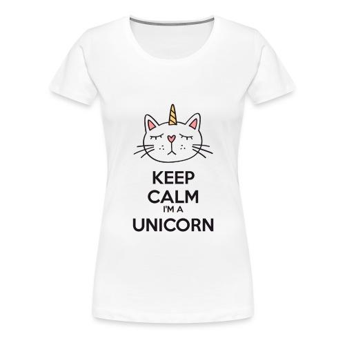Keep calm cat licorne - Women's Premium T-Shirt