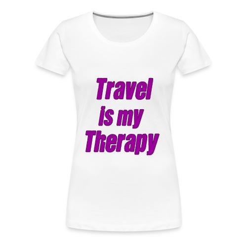 travel_is_my_therapy_vl - Maglietta Premium da donna