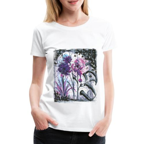 Crazy Flowers - Frauen Premium T-Shirt