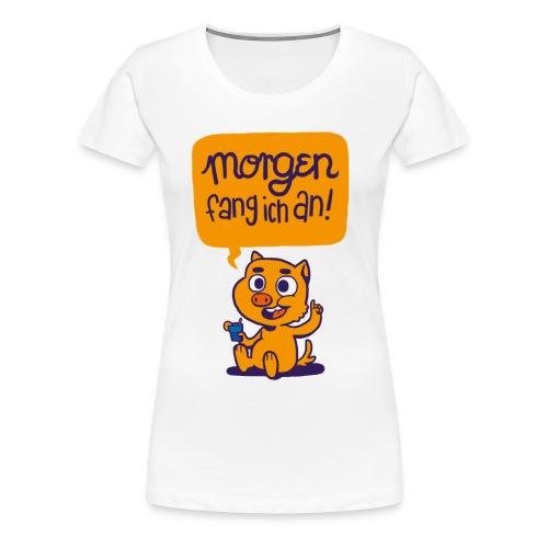 Schweinehund-Motto - Frauen Premium T-Shirt