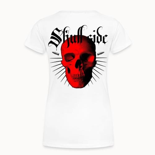 Skull side red - Frauen Premium T-Shirt