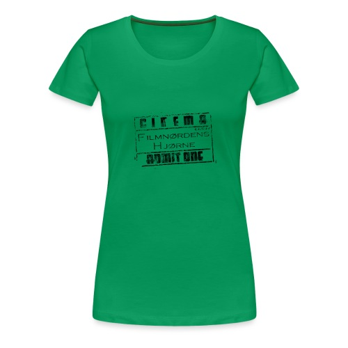 Stort slidt logo - Dame premium T-shirt