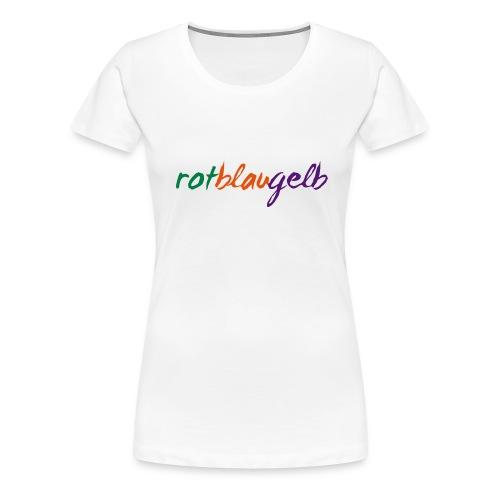 rotblaugelb - Frauen Premium T-Shirt