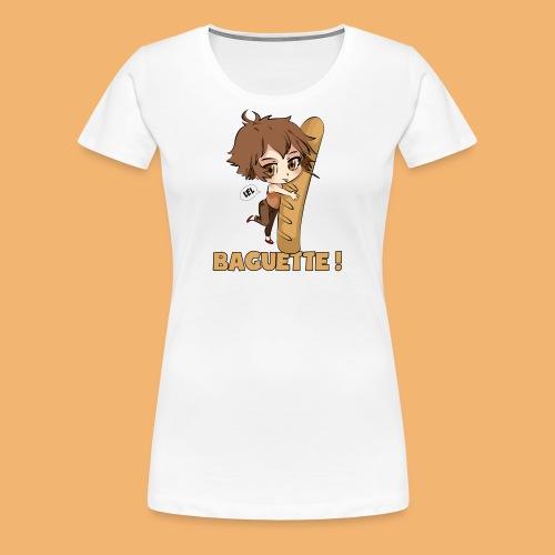baguette tshirt png - T-shirt Premium Femme