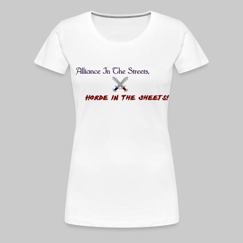 Alliance Horde Meme - Women's Premium T-Shirt