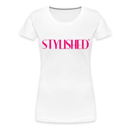 stylished logo pink large - Frauen Premium T-Shirt