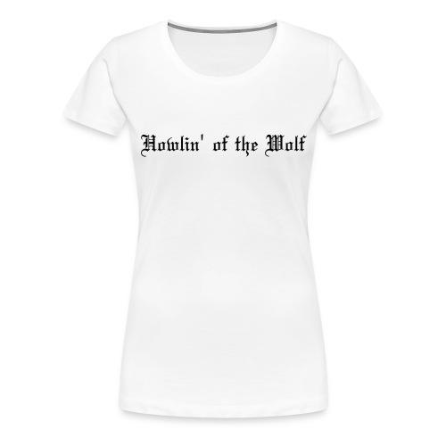 wolf logo paths - Women's Premium T-Shirt