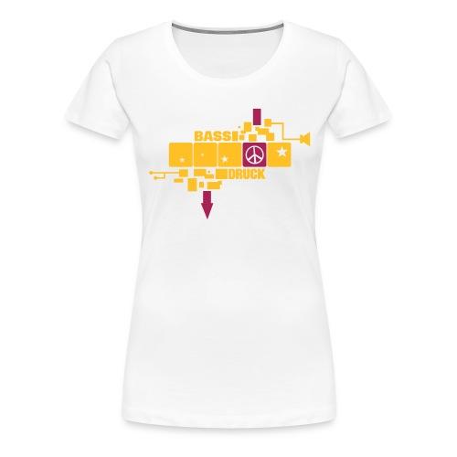 peace in a row - Frauen Premium T-Shirt
