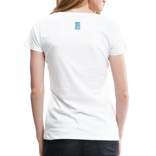 Fightwithstyle Berlin Block Langarm Lady Shirt - Frauen Premium T-Shirt