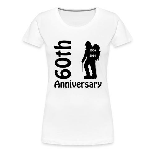 60th front mountianeer - Women's Premium T-Shirt
