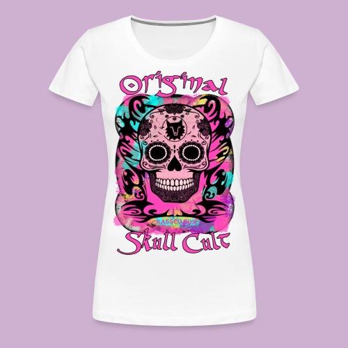 ORIGINAL SKULL CULT PINK - Frauen Premium T-Shirt