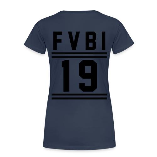 FVBI 19 schwarz gif - Frauen Premium T-Shirt