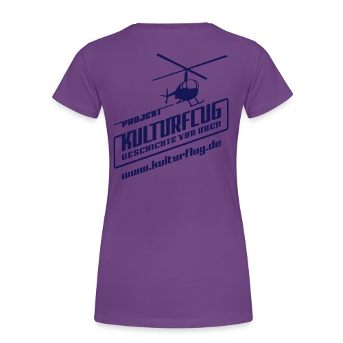 Kulturflug navy 28x28 www - Frauen Premium T-Shirt