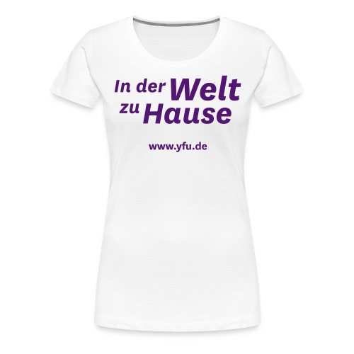 inderweltzuhause spread - Frauen Premium T-Shirt