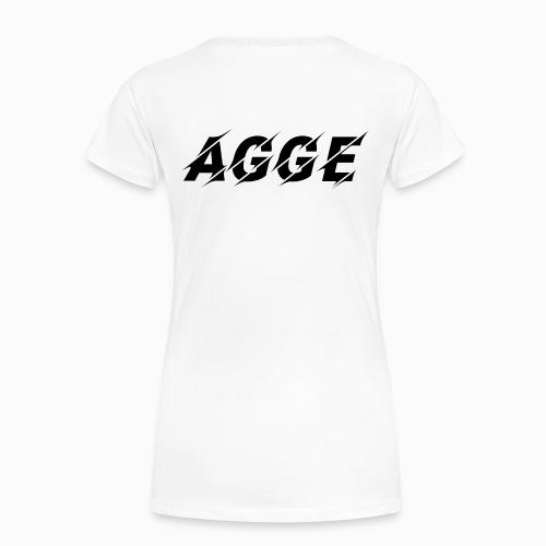 Agge - Svart Logga | Bak - Premium-T-shirt dam