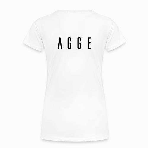 Agge - Svart logga   Bak - Premium-T-shirt dam