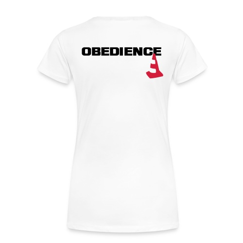 Obedience mit Pylone - Frauen Premium T-Shirt