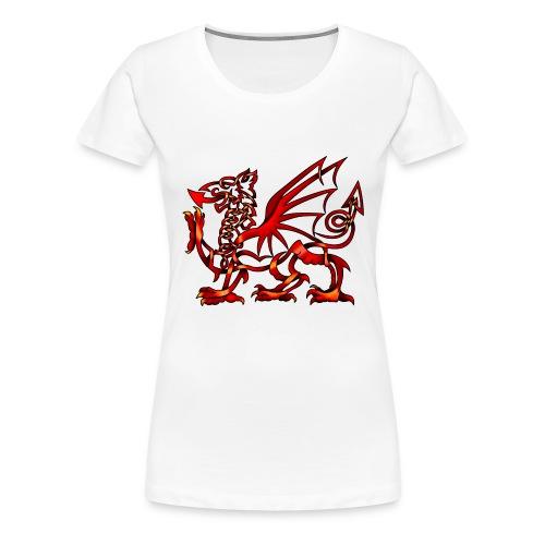 celtic knot welsh dragon by knotyourworld d4xqxs5 - Women's Premium T-Shirt