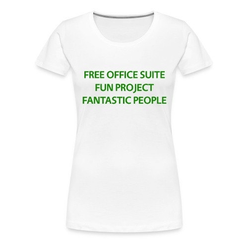 T Shirts Green Text Front png - Women's Premium T-Shirt