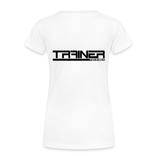 Trainer tennis modern - Vrouwen Premium T-shirt