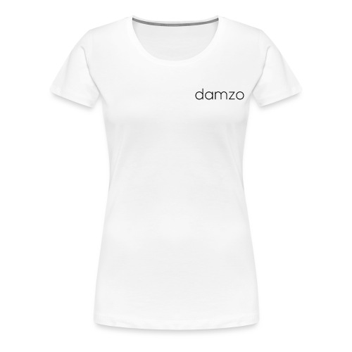 Damzo Simple 2 Sided Text Tee - Women's Premium T-Shirt