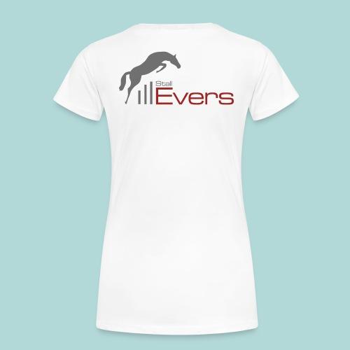 evers-logo-mit-pferd-farb - Frauen Premium T-Shirt