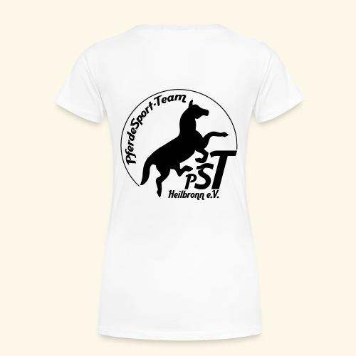 logo pst schwarz - Frauen Premium T-Shirt