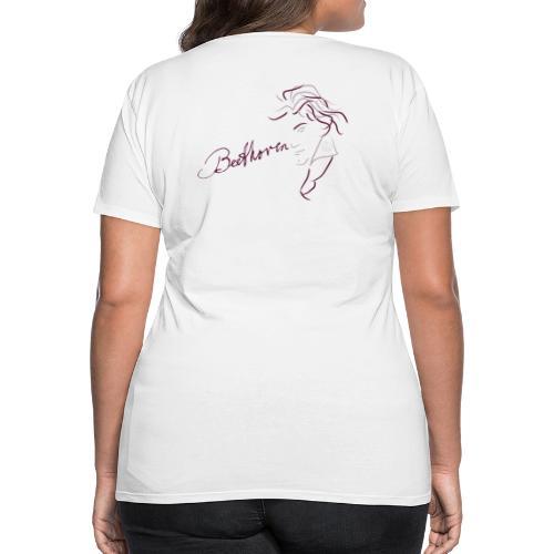 Beethoven (augerbine/rosa) - Frauen Premium T-Shirt