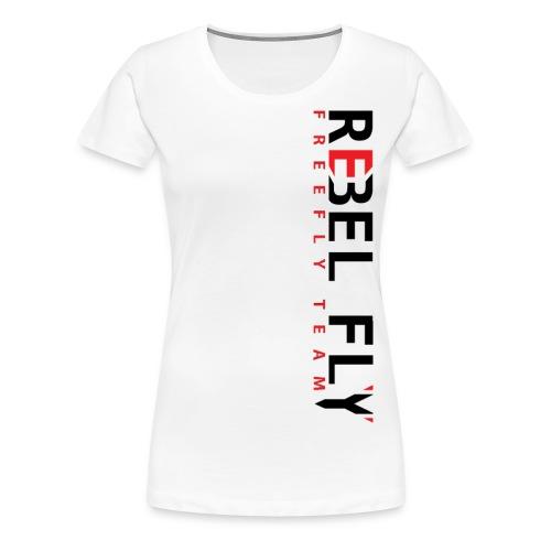 RebelFlyFreeflyTeamT ShirtPrintInverse png - Premium T-skjorte for kvinner