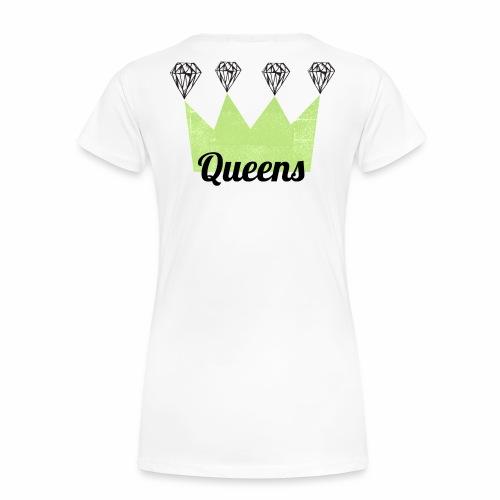 logo_queens_4_vihr_musta - Naisten premium t-paita