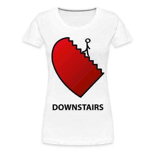 downstairs3b - Frauen Premium T-Shirt
