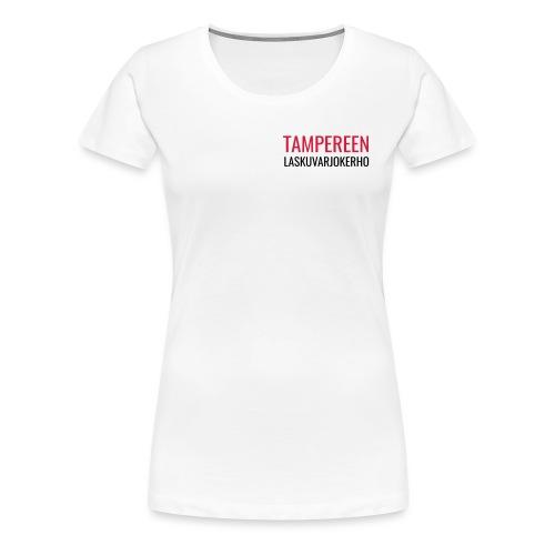 Teksti TAMLK logo CMYK - Naisten premium t-paita