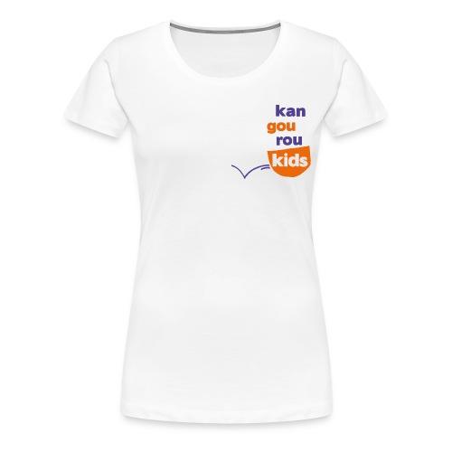Logo vertical détouré png - T-shirt Premium Femme