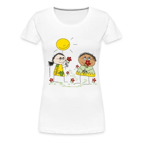 022 blumenkinder 4000x4000px - Frauen Premium T-Shirt