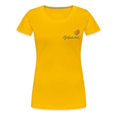 hjalpstickan logopride 1200 - Premium-T-shirt dam