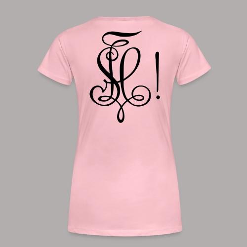 Zirkel, schwarz (hinten) - Frauen Premium T-Shirt