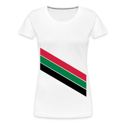 Rood groen zwarte banen - Vrouwen Premium T-shirt