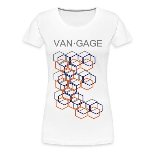 CUBESgrey - Frauen Premium T-Shirt