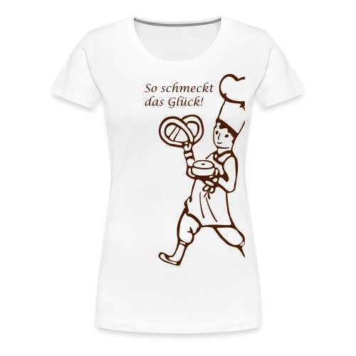 Cafe Schober T Shirt Fron - Frauen Premium T-Shirt