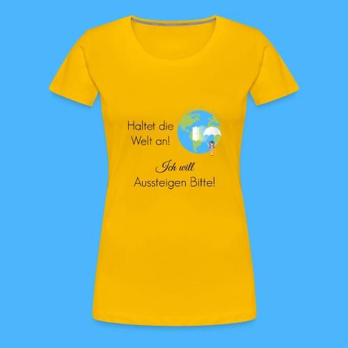 Logo Spruch schwarz - Frauen Premium T-Shirt