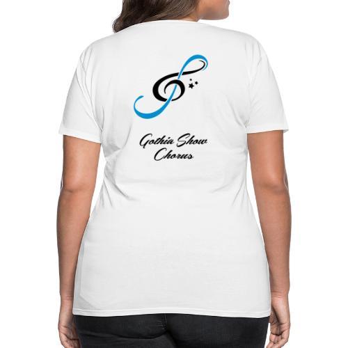 GothiaShowChorus LOGGO Blå svart - Premium-T-shirt dam