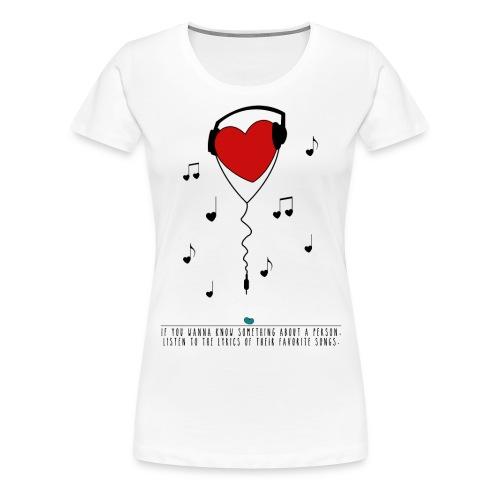 Shirt Music - Frauen Premium T-Shirt