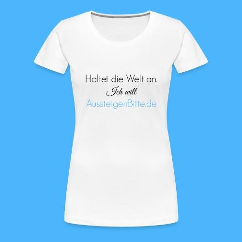 Haltet die Welt an Link - Frauen Premium T-Shirt