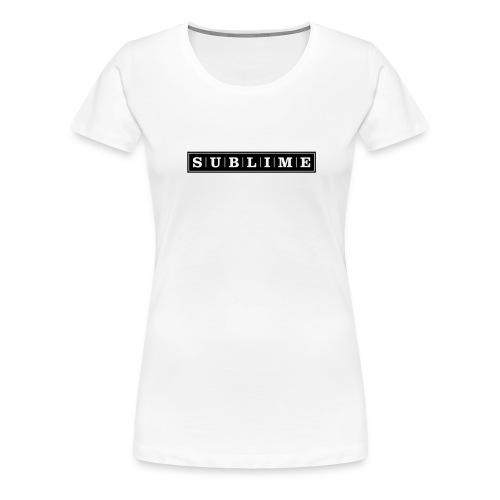 sublime vektor - Frauen Premium T-Shirt