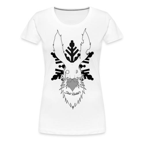 Slide Rabbit's Full Black - T-shirt Premium Femme