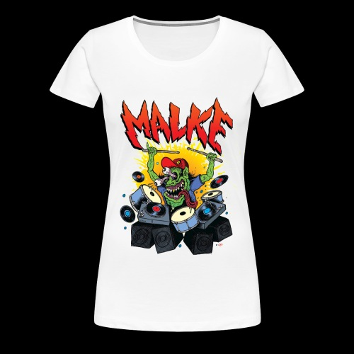 Malke - Man Premium White - Monster - Black - Camiseta premium mujer